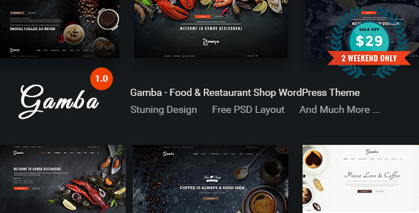 Gamba – Food & Restaurant WordPress Theme