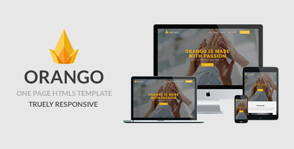 ORANGO - One Page Responsive HTML5 Template - Corporate Site Templates