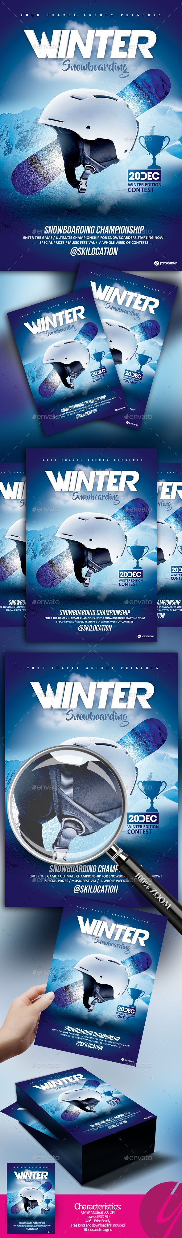 Winter Snowboarding Contest - Sports Events