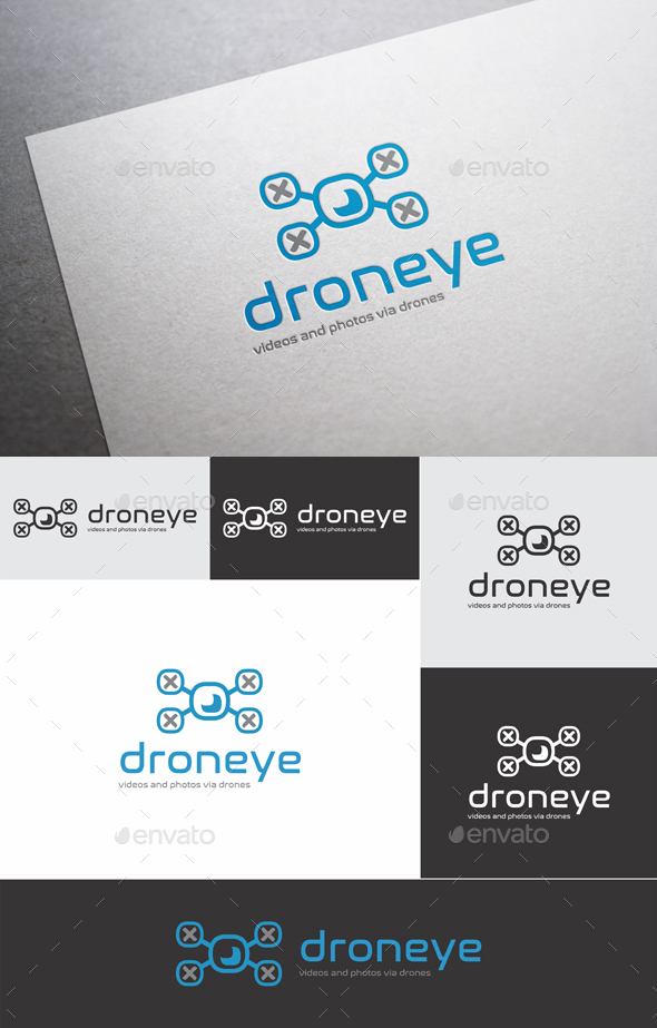 Drone Eye Logo Template - Objects Logo Templates