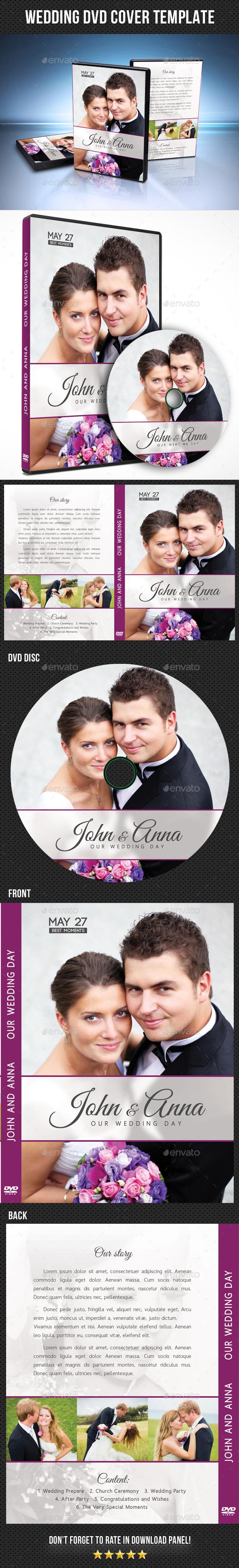 Wedding DVD Cover Template 20 - CD & DVD Artwork Print Templates