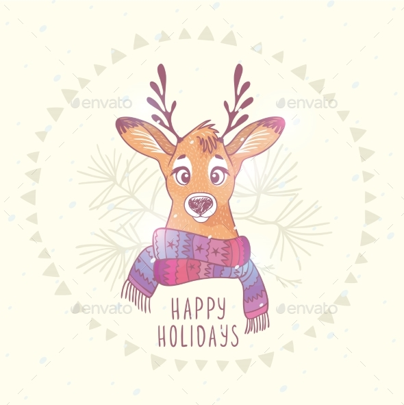 Christmas Deer - Animals Characters