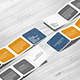 Square Accordion Fold Brochure Mock-Up - Rounded Corner - GraphicRiver Item for Sale