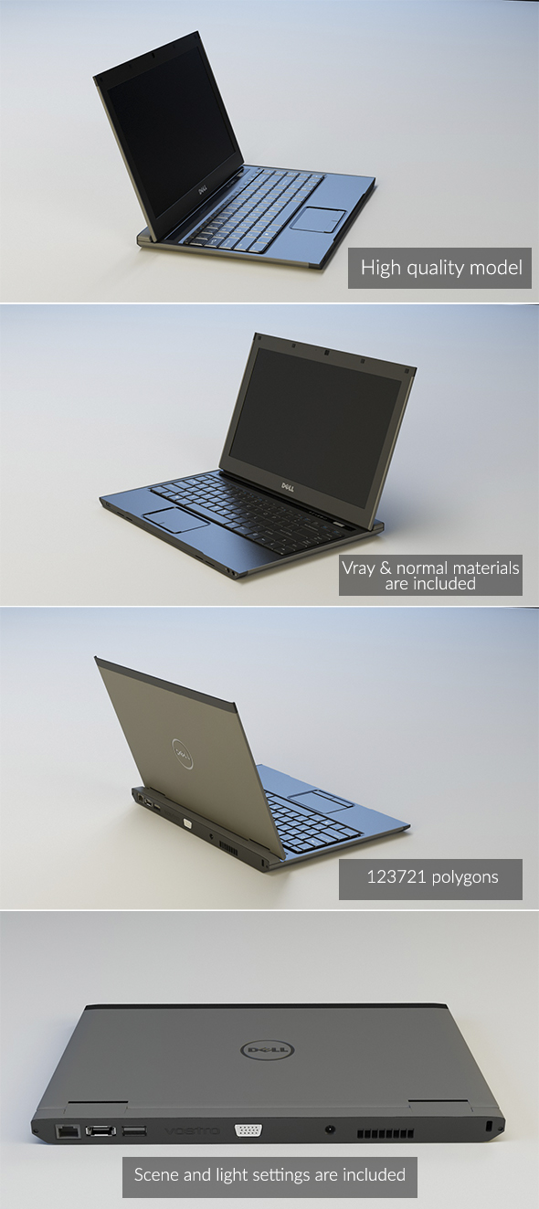 Dell Notebook - 3DOcean Item for Sale