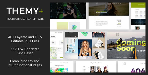 Themy+ — Creative Multipurpose PSD Template