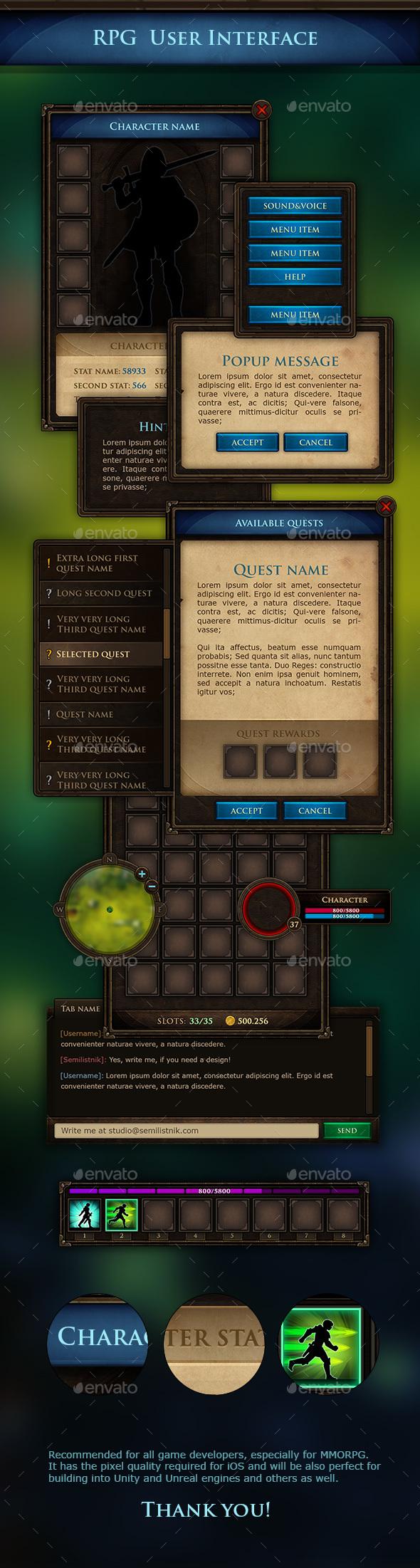 MMORPG UI Kit - User Interfaces Game Assets