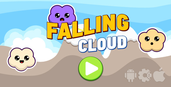 Falling cloud - HTML5 game + mobile. Cocoon ADS. Construct 2 (.capx) - CodeCanyon Item for Sale