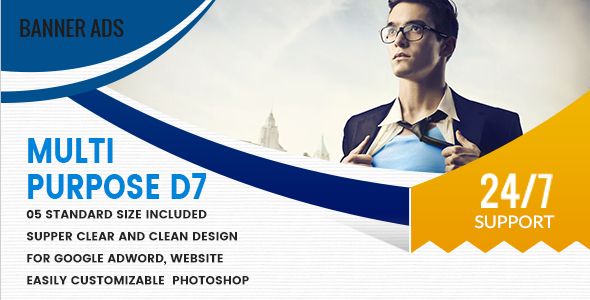 Multi Purpose Banners HTML5 D7 - Animate - CodeCanyon Item for Sale