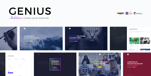 GENIUS – Ambitious Coming Soon Template