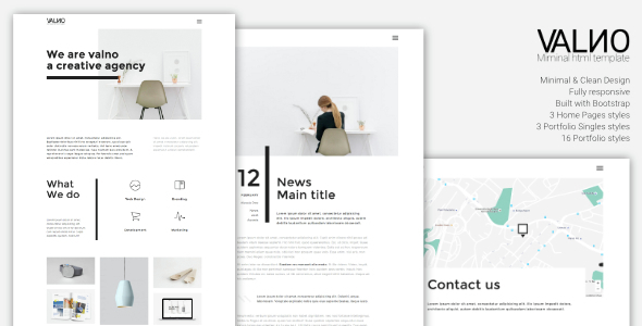 Valno – Minimal Creative Multi page Portfolio WordPress Theme