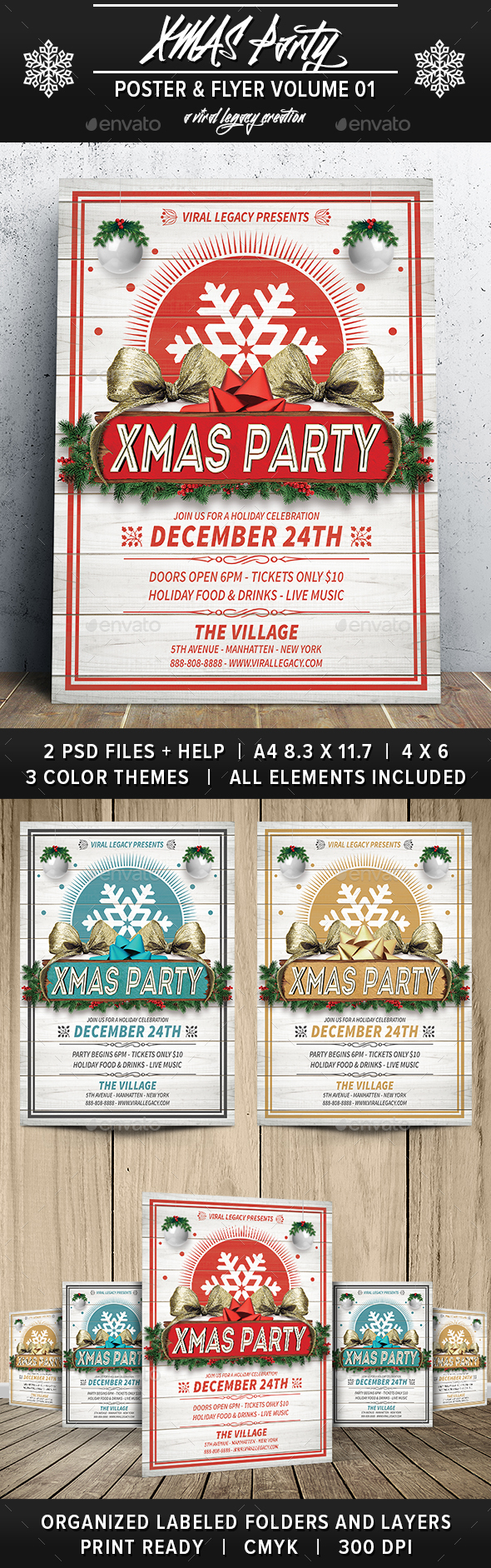 Xmas Party V01 - Flyers Print Templates