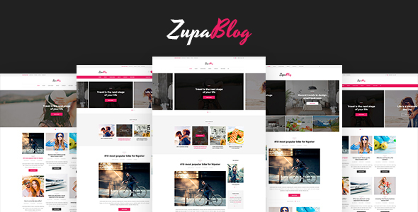 ZupaBlog – Creative Blog and Magazine PSD Template