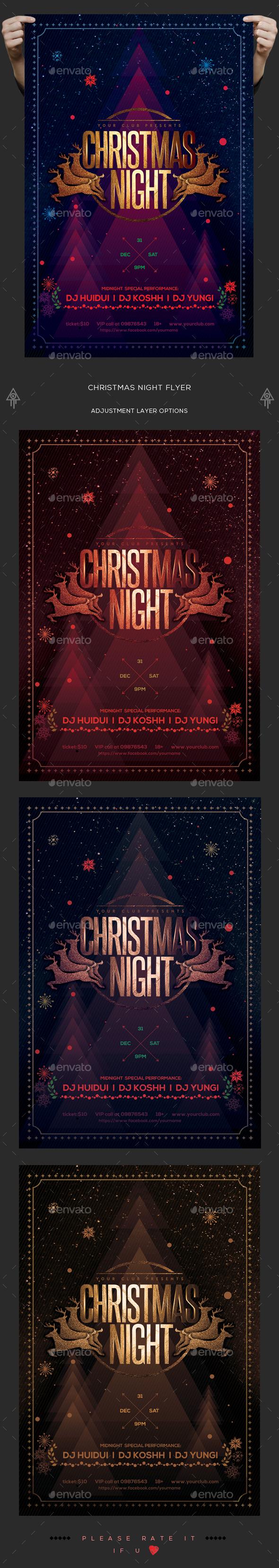 Christmas Night Flyer - Holidays Events