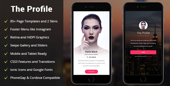 Profile | Mobile Site Template