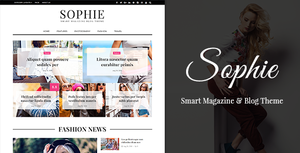 Sophie – Smart WP Magazine & Blog Theme