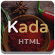 Kada - Restaurant & food Bootstrap Template - ThemeForest Item for Sale