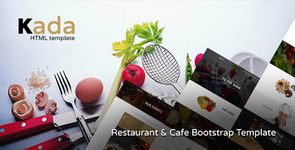 Kada - Restaurant & food Bootstrap Template - Food Retail