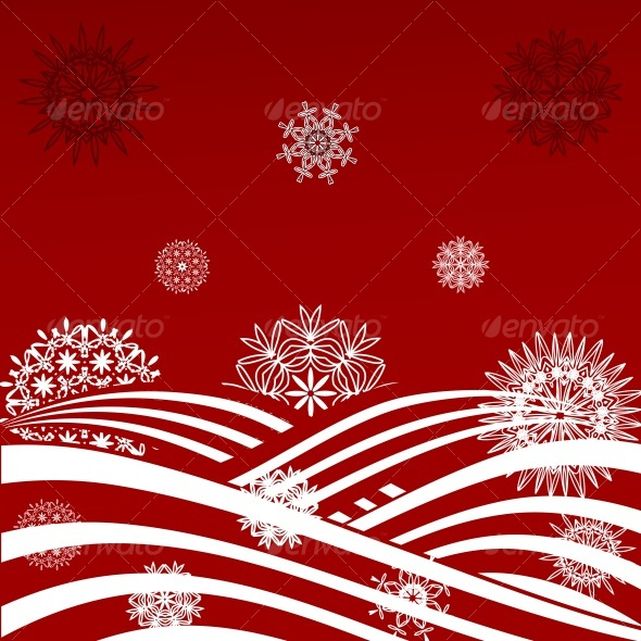 vector illustration of a Christmas background - Christmas Seasons/Holidays