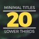 Minimal Titles & Lower Thirds 2 - VideoHive Item for Sale
