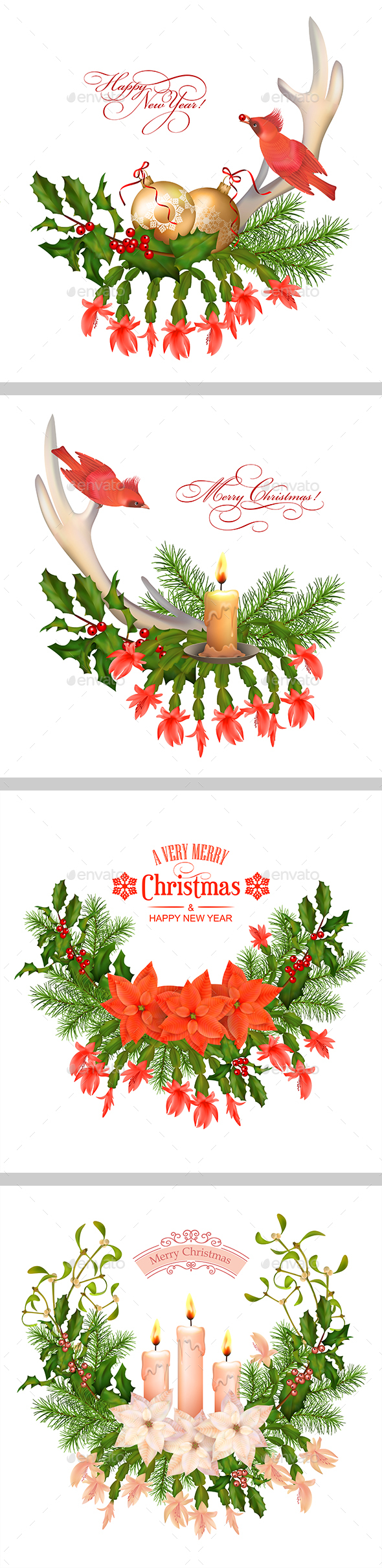 Christmas Decorations Set - Christmas Seasons/Holidays