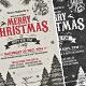 Vintage & Chlak Christmas Party Flyer - GraphicRiver Item for Sale
