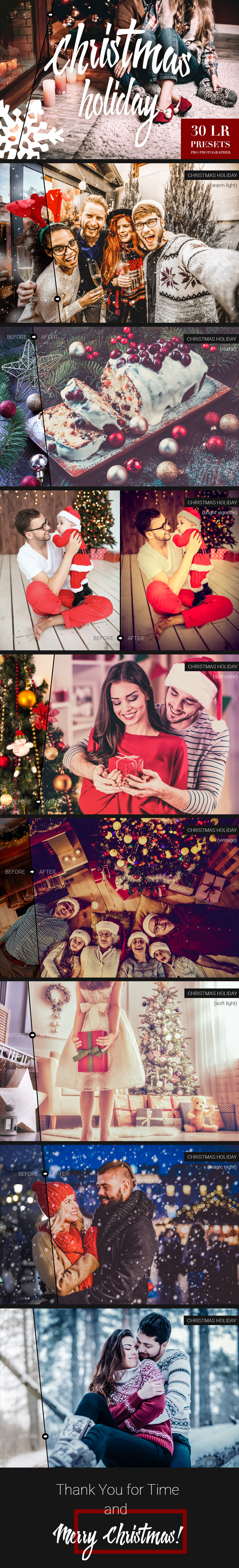 Christmas Holiday Lightroom Presets - Lightroom Presets Add-ons