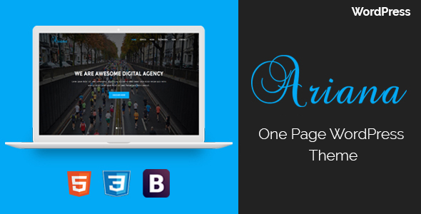 Ariana - Digital Agency One Page WordPress Theme