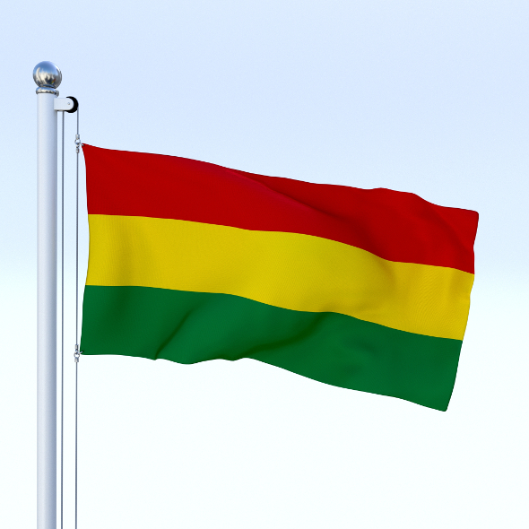 Animated Bolivia Flag - 3DOcean Item for Sale