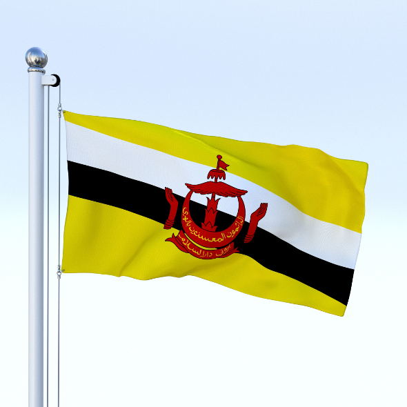 Animated Brunei Darussalam Flag - 3DOcean Item for Sale