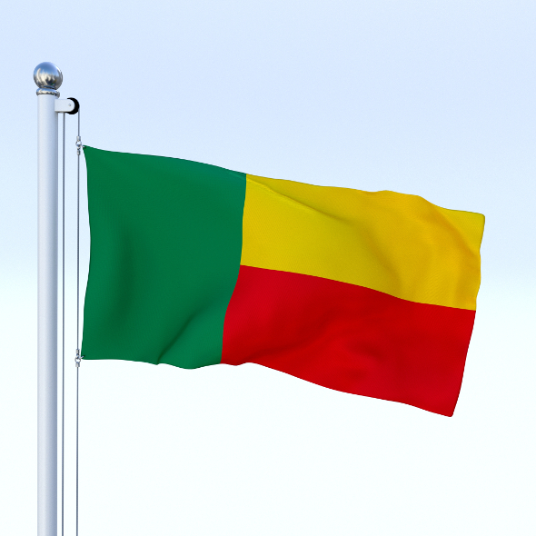 Animated Benin Flag - 3DOcean Item for Sale