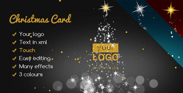 Christmas Card Elegant Lights - CodeCanyon Item for Sale