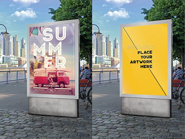 Photo Mupi Mock Up - Signage Print