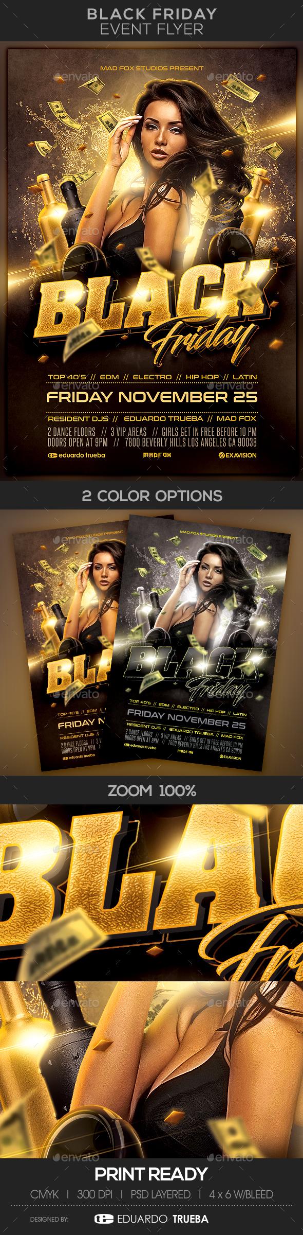 Black Friday Event Flyer - Flyers Print Templates