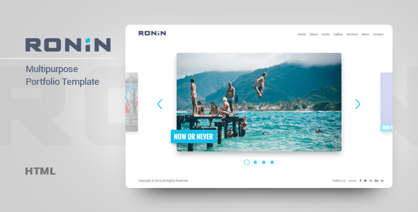 Ronin - Multipurpose Portfolio Template by MadSparrow