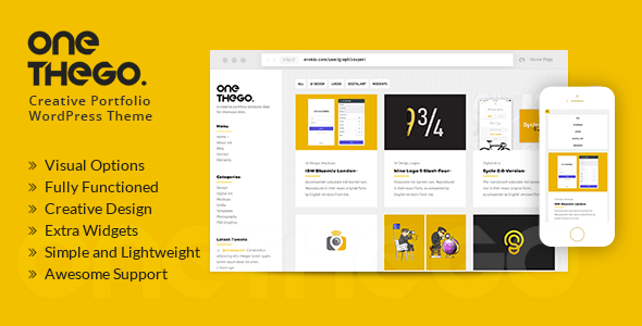 OneTheGo | Creative Agency Showcase Responsive WordPress Theme