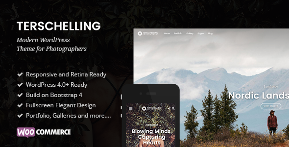 Terschelling – Modern Photography WordPress Theme