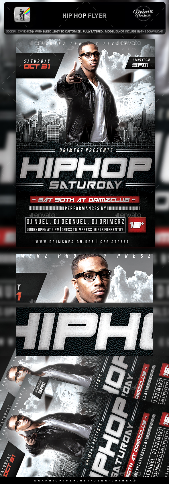 Hip Hop Flyer - Events Flyers