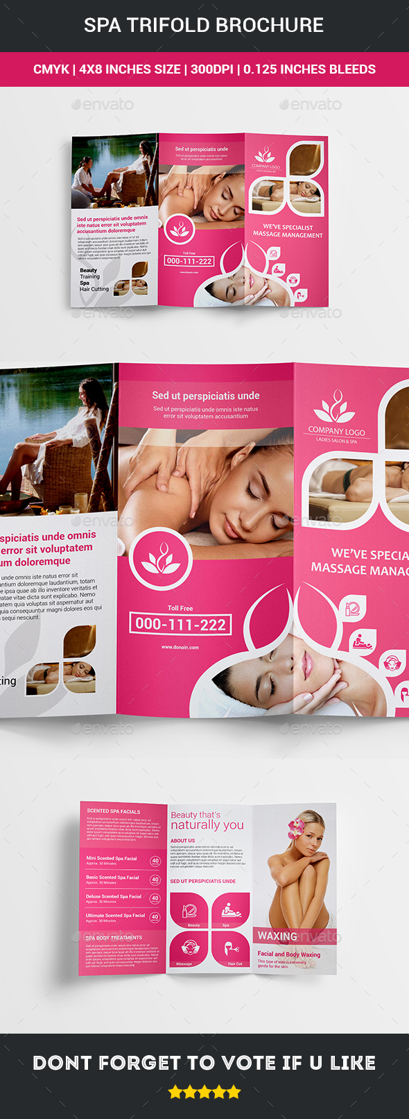 Spa Trifold Brochure - Signage Print Templates