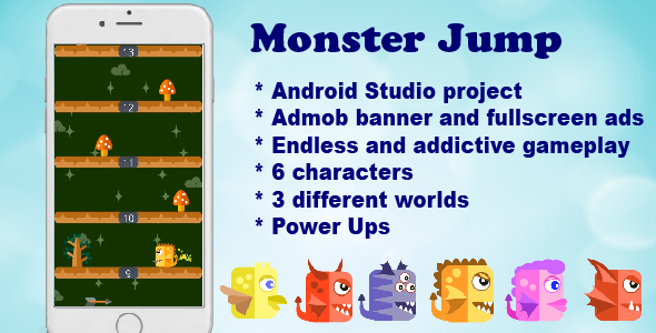 Monster Jump Android Game - CodeCanyon Item for Sale