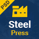 SteelPress - Industrial & Factory Business PSD Template - ThemeForest Item for Sale