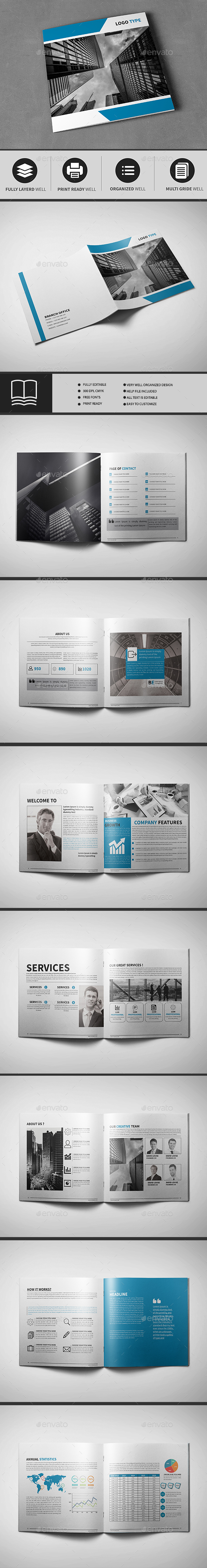 Corporate Business Square Brochure - Brochures Print Templates