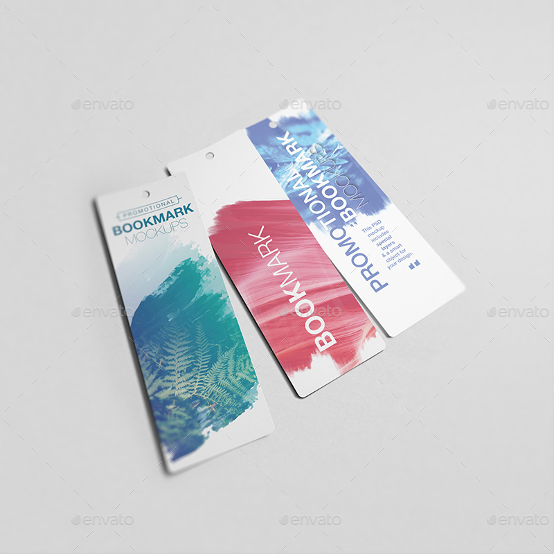 promotional bookmark mockups by wutip