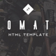 Omat - Responsive One Page Portfolio Template - ThemeForest Item for Sale