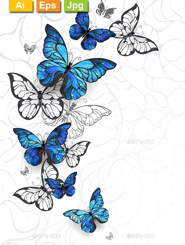 Flying Butterflies - Backgrounds Decorative