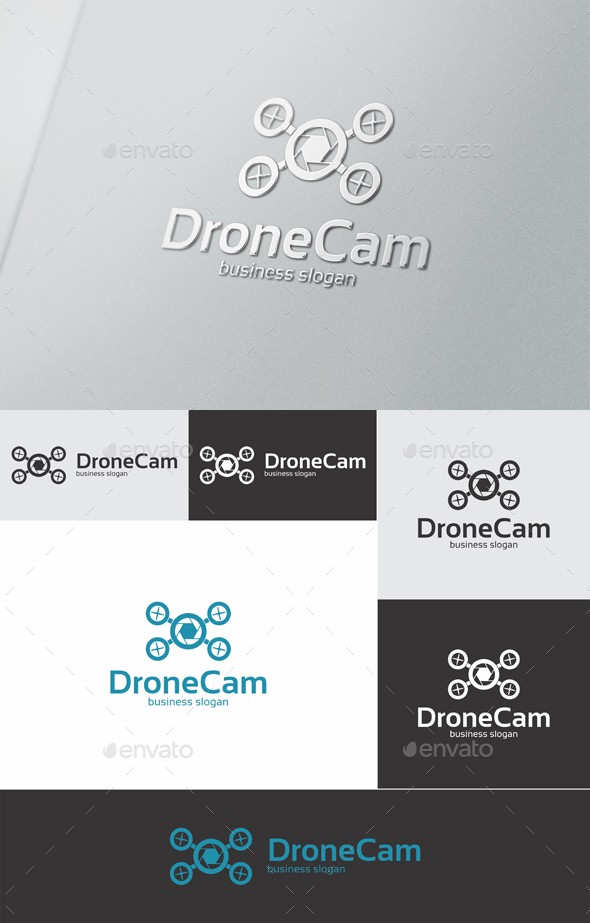 Drone Cam - Objects Logo Templates