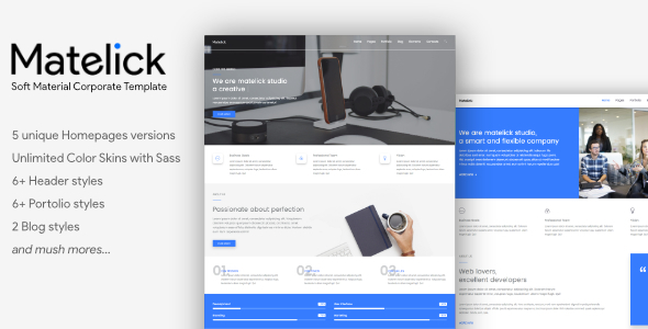 Matelick – Soft Material Corporate HTML Template