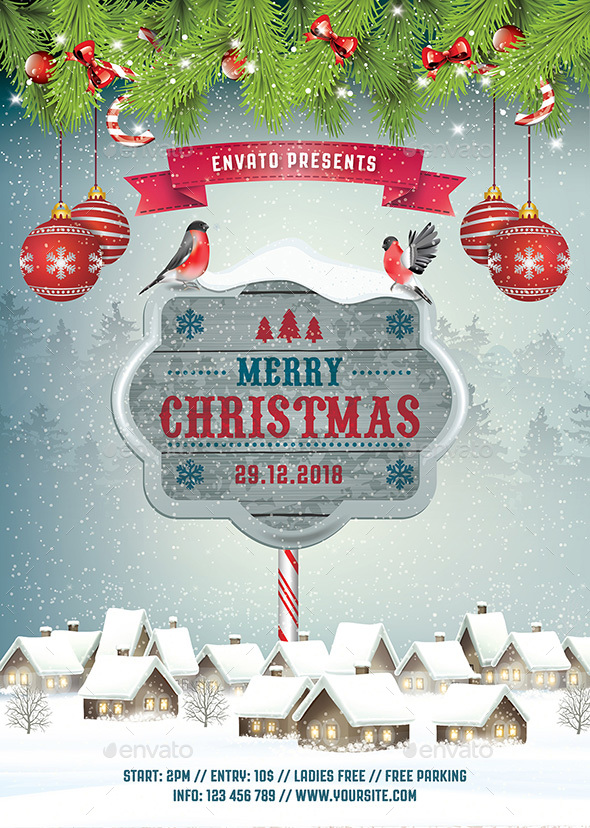 Christmas Flyer - Holidays Events