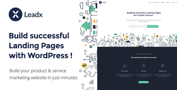 Leadx – Landing Page & Lead Marketing WordPress Theme