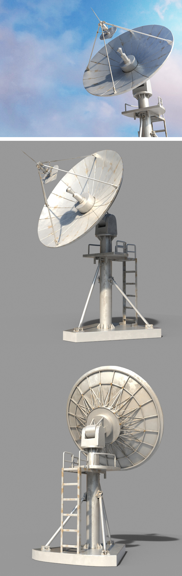 Radio Satellite - 3DOcean Item for Sale