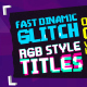 Glitch RGB Titles Pack - VideoHive Item for Sale